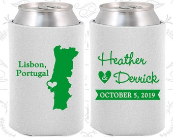Portugal Wedding Gifts, Coolies, Destination Wedding Favors, Portugal Favors, Lisbon Save the Date (189)