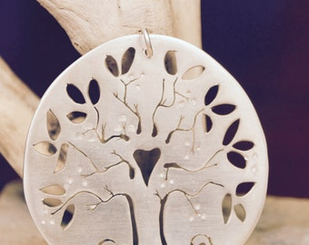 If I were a tree ( life, love, leaves) 2012 ( handpierced, silver, tree of life pendant)