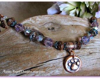 Rainbow Bridge Gift, Pet Memorial Bracelet, Pet Loss Jewelry, Rainbow Bridge Memorials, Pet Rescuer Gift, Death of Pet, Dog Sympathy Gift