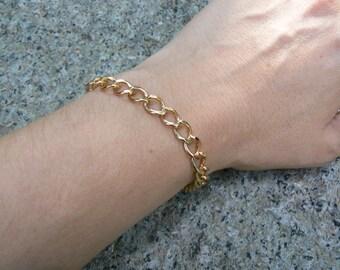 Vintage Jojak Gold Tone Chain Link Bracelet