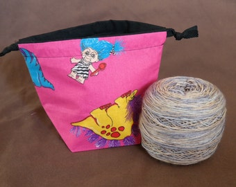 Trolls Drawstring Yarn Cake bag