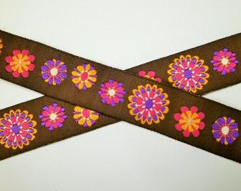"1 m Woven Ribbon ""Retro"" 22 mm w."