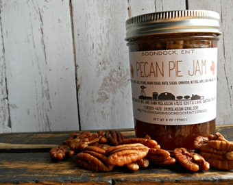 Pecan Pie Jam - Homemade Jam - Handcrafted Jam - Up to 4 Jars with Same Shipping - Hostess Gift - Housewarming Gift - Food Gift -Gourmet Jam