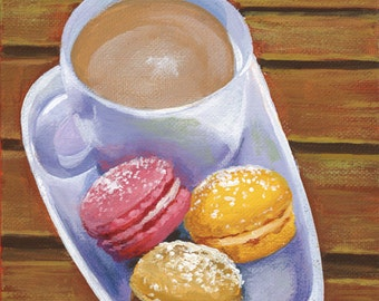 Cafe with Macarons
