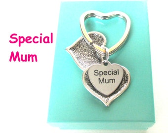 Special Mum keyring - Mother's Day gift - Secret message keyring - Heart Keychain - Gift for mum - Custom message - Mum birthday - UK seller