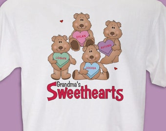 Personalized My Sweethearts Sweatshirt
