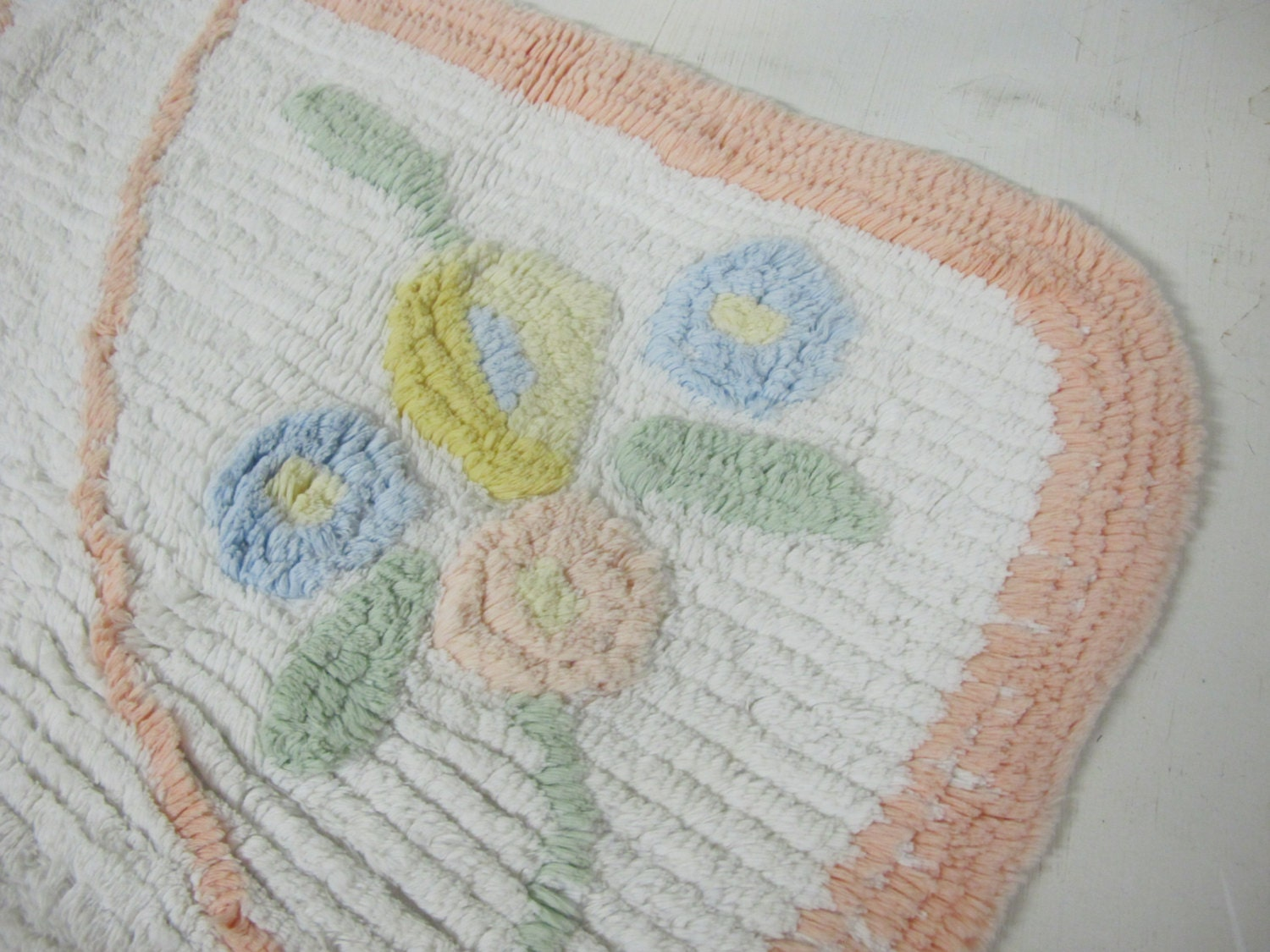 cotton rug chenille rug floral cotton bathroom rug baby rug