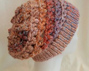 Women's Crochet Slouch Hat- Sonoma