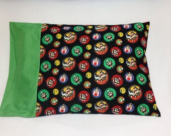 Nintendo Super Mario Characters Standard Pillowcase
