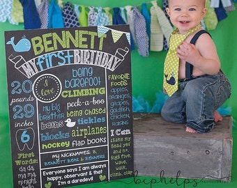 Whale Birthday Chalkboard Poster Preppy Whale Chalkboard Poster 1st Birthday Poster Whale Theme Nautical