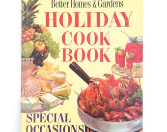 Vintage Cookbook Better Homes Gardens Holiday Recipes Special Occasions Retro Theme Parties Buffets