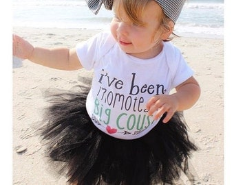 I've Been Promoted to Big Cousin Future Big Cousin Baby Bodysuit Customize Color and Date