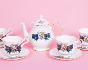 9 Piece Royal-Grafton-Tea-Cup,Saucer and Tea Pot Set
