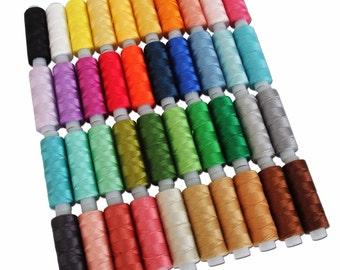 Perle Cotton Thread Set 40 Colors 75 Yd Spool Size 8 Pearl Threadart