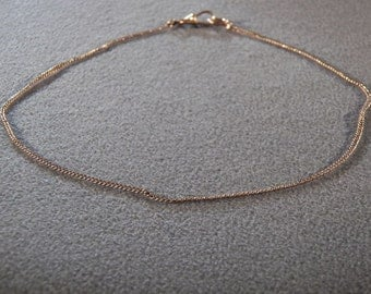 Vintage 12 K Yellow Gold Filled Watch Chain Necklace **RL