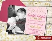 Twinkle Twinkle Little Star Baby Shower Invitation | Gold | Card | Digital | Print file | Baby Shower | Photo | Baby Shower Photo Invitation