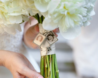 wedding bouquet charm kit photo pendants charms for family photo includes everything you need