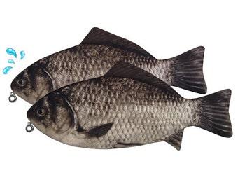 Crap Fish Pen Pouch - fish pouch, pen, pencil case, zipper