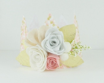PINK||GOLD||WHITE- Fabric Crown