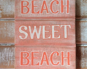 Beach signs, beach decor, beach house sign, coastal decor, wooden signs, painted wood, reclaimed wood sign