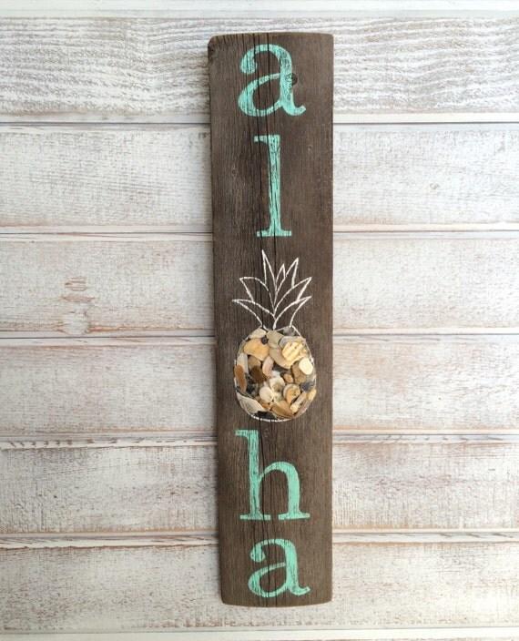 Aloha Aloha Sign Hawaiian Decor Beach Signs Beach By
