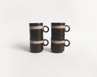Vintage Coffee Mugs Set of 4