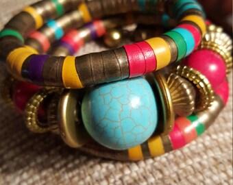Beautiful Bohemian Wrap Bracelet, Bohemian Bracelet