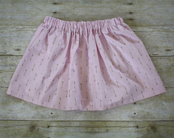 Girls skirt, Gold arrow print