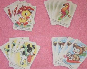 Vintage Children's SNAP Playing Cards Full Deck