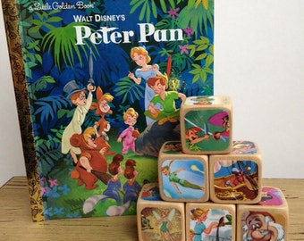 Peter Pan Gift Set // Childrens Book Blocks // Baby Shower Gift // Natural Wood Toy
