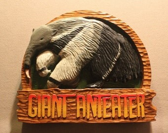 Custom Carved wood signs | Anteater signs | Zoo signs | Animal signs | Wildlife signs | Hand carved wood signs