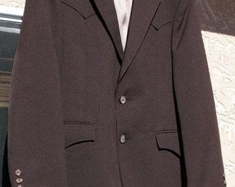"50s60s Vintage Tailored ""Hi-Sierra H Bar C"" Men's Rockabilly Western-Style Jacket — Size Medium"
