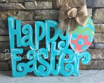 Easter door hanger, spring door hanger, he is risen door hanger, easter wreath, spring door decor, easter door decor