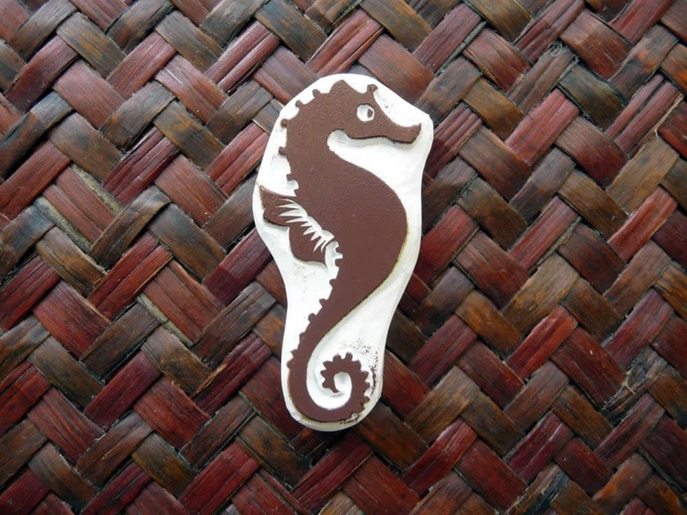 Sea horse rubber stamps hand carved made stamping