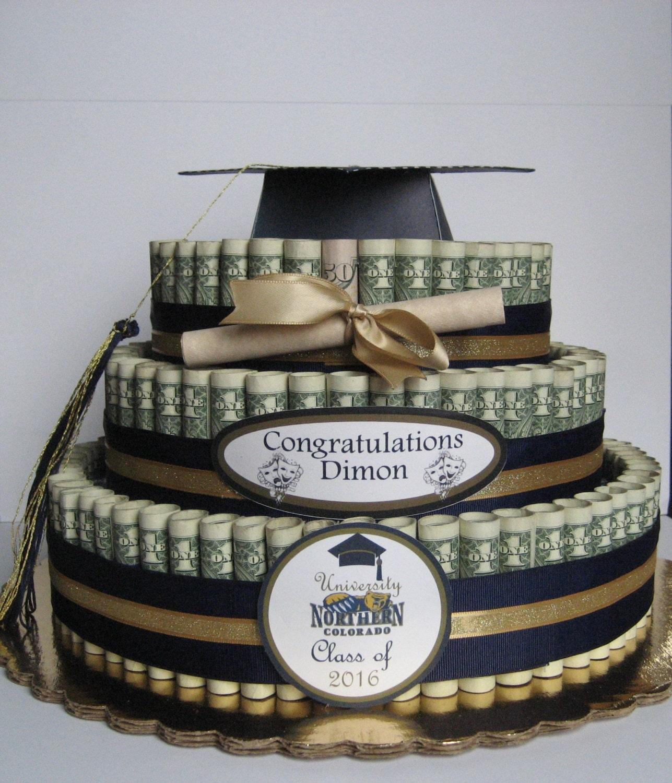 Money cake large graduation class of 2017 a fun - Money cake decorations ...