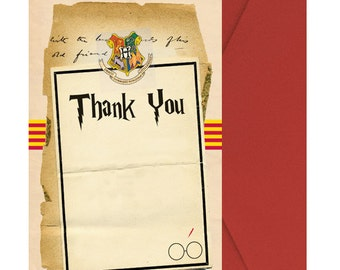 Harry Potter Thank You Note - PRINTED & Shipped