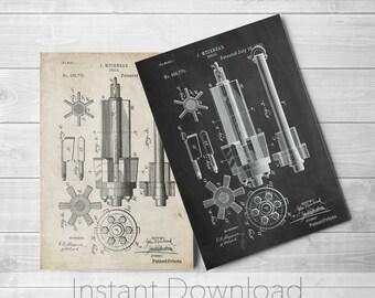 Mining Tool Printables, Coal Mining, Manly Wall Art, Tool Art, Industrial Wall Decor, Garage Art, PP0280