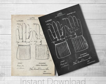 Hockey Glove Printables, Hockey Decor, Sports Wall Art, Coach Gift, Hockey Coach, PP0292