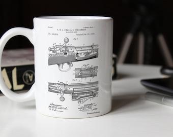 Repeating Rifle Patent Mug, Bolt Action Mug, Gun Decor, Gun Enthusiast, PP0913