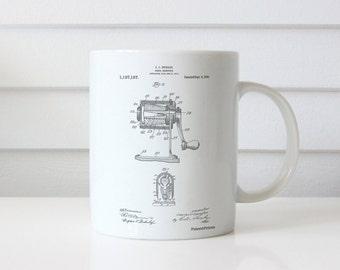 Pencil Sharpener Patent Mug, School Decorations, Artist Gifts, School Principal, PP0162