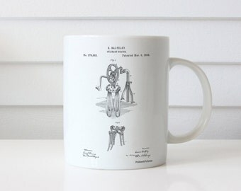 Baltzley Egg Beater Patent Mug, Bakery Decor, Kitchen Mug, Culinary Gifts, Restaurant Decor, PP0620