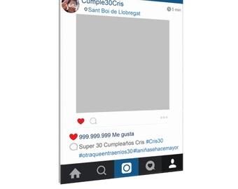 Instagram cardboard frame