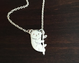 Koala, Koala Bear, Koala Necklace, Koala Jewelry, Koala Pendant, Koala Bear Necklace, Koala Bear Jewelry, Silver Koala Necklace, Koalas