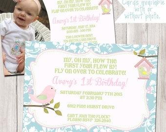 Lil' Birdie Birthday Invitation