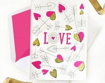 Heart Arrow Card