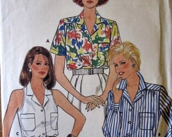 3297 Butterick Misses Shirt, blouse pattern, Vintage pattern from 1985