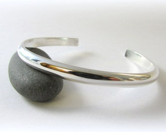 Sterling Silver Bracelet. Silver cuff bracelet. Cuff bracelet. Maine jewelry. Modern Silver Jewelry. Hammered silver. Silver Bracelet