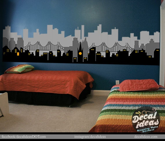 Gotham City Wall Decal by StunningWalls