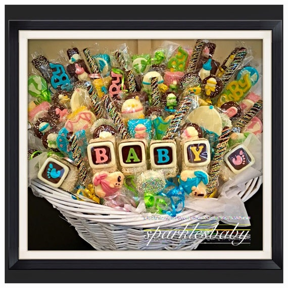 Baby baby shower chocolate basket commack or carle place like this item negle Images