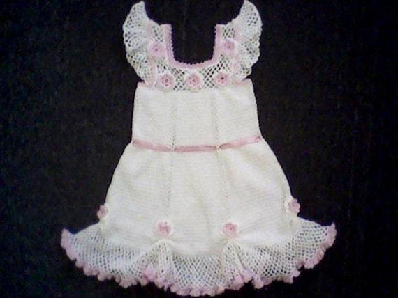 Hand made knitted dress for girl